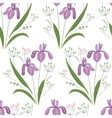 Seamless pattern with stylized cute irises vector image