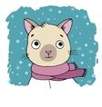Portrait of a Siamese cat Winter vector image