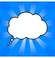 cloud of thoughts in blue sun vector image
