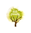 Eco friendly tree emblem vector image