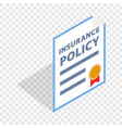 insurance policy isometric icon vector image