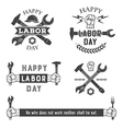 Labor day emblems vector image
