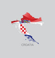 map of croatia vector image