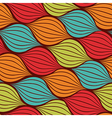 Seamless abstract hand drawn pattern with waves vector image