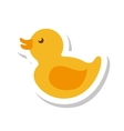 duck toy isolated icon vector image