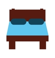 bed bedroom rest icon vector image