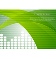 Colourful tech design with abstract waves vector image vector image