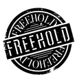 Freehold rubber stamp vector image