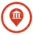 bank building pointer rounded grainy icon vector image