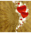 Red Hearts With Cardboard vector image vector image