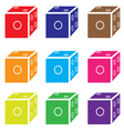 dice colored set vector image vector image