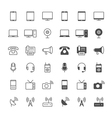 Communication device icons vector image