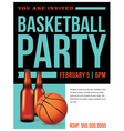 Basketball Party vector image vector image