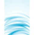 Blue smooth wavy backdrop vector image
