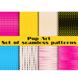 Dotted Pop Art seamless pattern background vector image