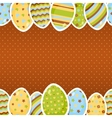 Horizontal seamless easter pattern vector image