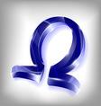 omega vector image