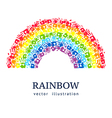 Rainbow made from hands Abstract background vector image
