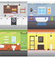 set bathroom interior or architecture and vector image