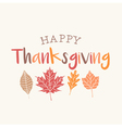 Thanksgiving card with autumn leaves vector image