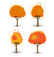 Set of of trees of different shapes vector image