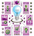 infographics template idea light bulb concept vector image