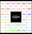 sound waves icon  felt-pen 33 colorful vector image