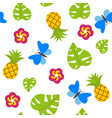 tropical seamless pattern on white background with vector image