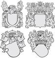 set of aristocratic emblems No11 vector image vector image