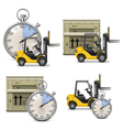 Shipment Icons Set 21 vector image