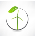 green ecological windmill icon vector image vector image