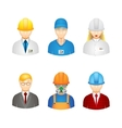 3d workers icons vector image vector image
