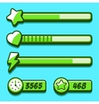 Option menu green style game buttons vector image