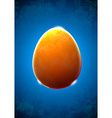 Abstract textured glass egg vector image