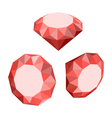 Flat Icon of Set Diamond Three-dimensional Design vector image vector image