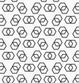 Flat gray with hexagonal infinity shaped vector image