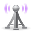 wireless tower icon vector image vector image