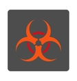 Bio Danger Rounded Square Button vector image