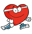 Healthy Red Heart Running Past Vector Image