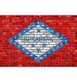 Flag of Arkansas on a brick wall vector image