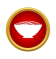 Bowl of food icon simple style vector image