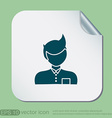 A male avatar Picture a man Manager or an office vector image