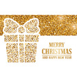 Christmas gold headline vector image