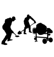 construction workers silhouette vector image