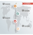 four steps infographic background whith icons vector image