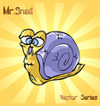 mr snail with old vector image