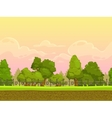 Seamless cartoon park landscape vector image