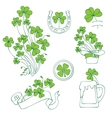 st patricks day elements set vector image