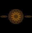 The gold mandala vector image
