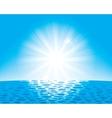 sun over the sea vector image